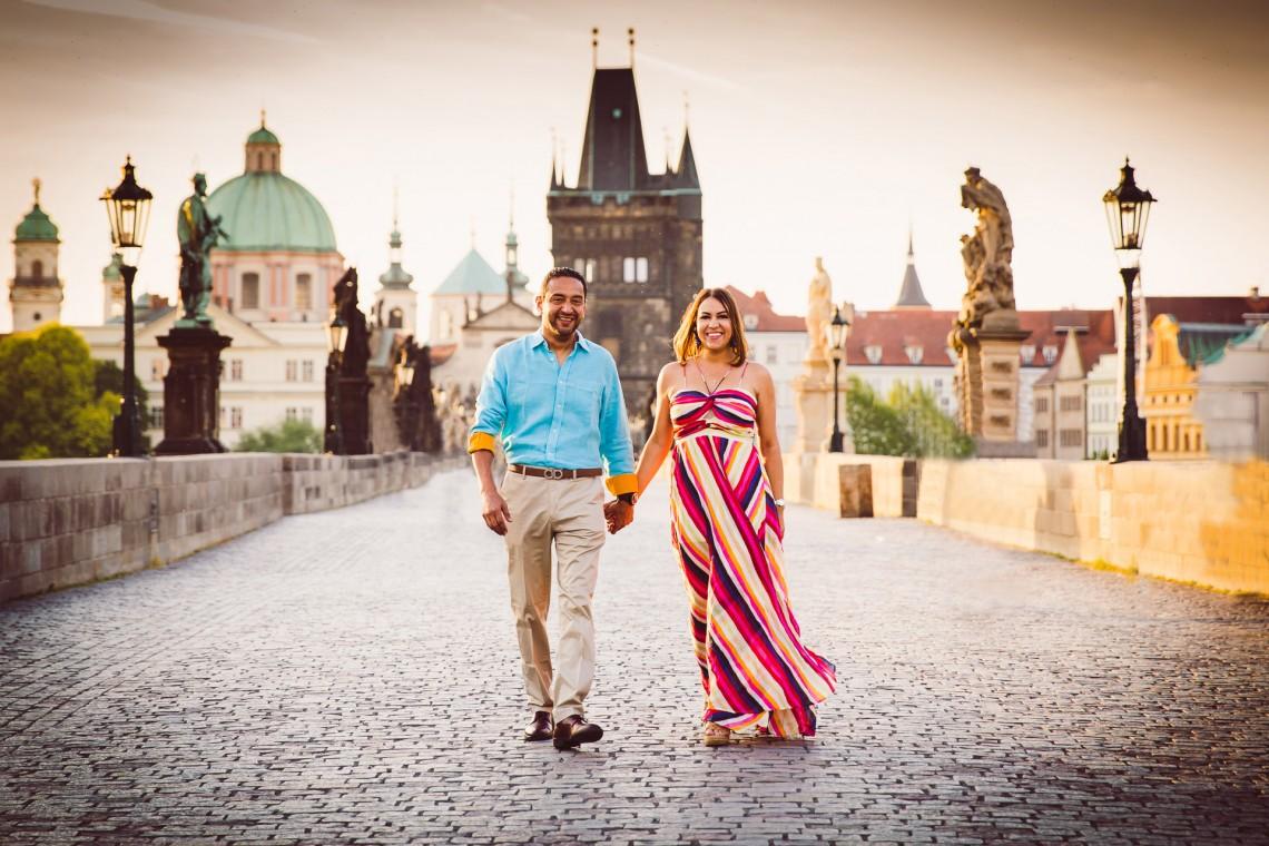 Sesión de fotos prenupciales en Praga