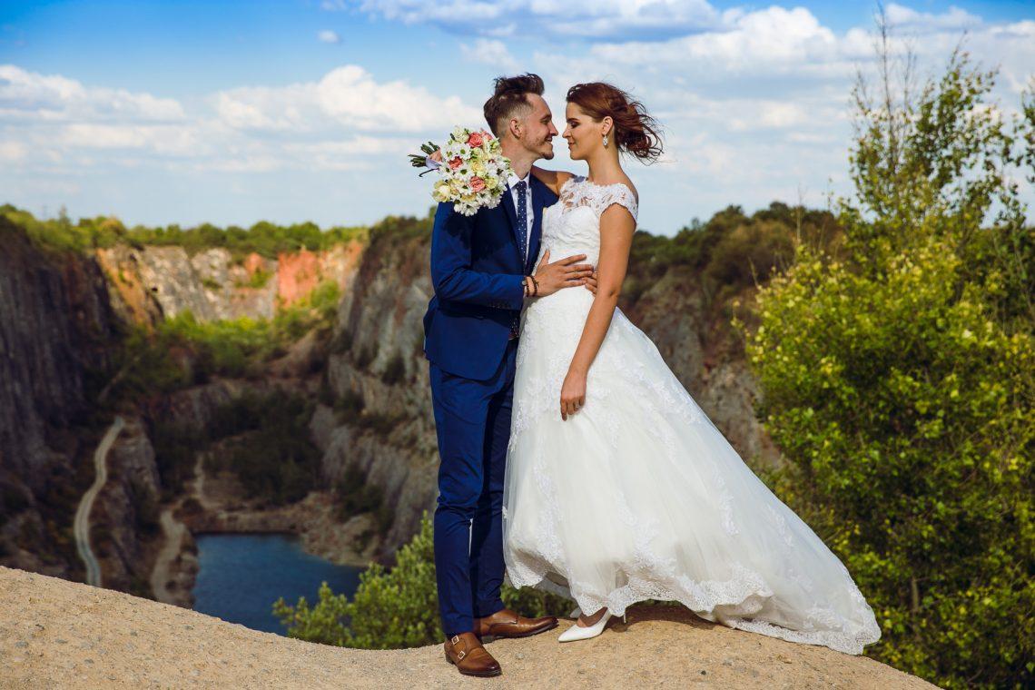 Svatební focení u lomu Velká Amerika